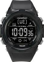 Marathon by Timex Men's TW5M22300 Digital 50mm Black/Negative Resin Strap Watch