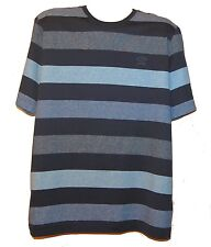 Paul & Shark AUTHENTIC Men's Blue Stripes Italy Cotton T-Shirt Shirt Sz L $210
