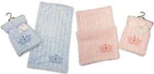 Baby Boys Girls Blanket Soft Wrap Blue Prince Pink Princess 75 x 75 cm 69 70