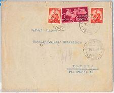 57127 - REPUBBLICA - STORIA POSTALE: ESPRESSI su BUSTA  1948