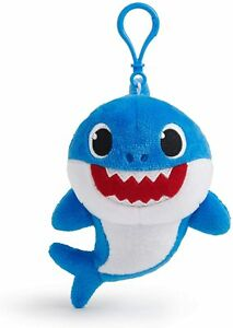 "Pinkfong Baby Shark Plush Clip – Blue 6"" Daddy Shark Plush Stuffed, NWT!"