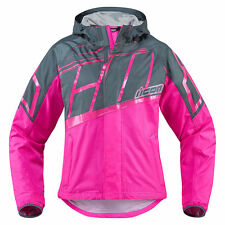 """ICON """"PDX 2"""" WATERPROOF MOTORCYCLE JACKET OVER-THE-JACKET - PICK SIZE & COLOR"""