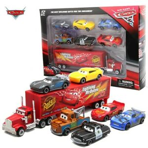 7PCS/Setx Disney Pixar Car 3 Lightning McQueen Jackson Storm Mack Uncle Truck
