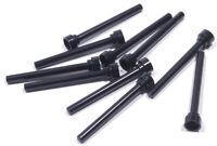 LEGO - 10 x Antenne / Fahnenmast 1x4 schwarz mit flacher Spitze / 3957b NEUWARE