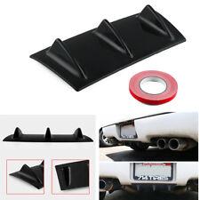"""Universal Car Rear Bumper Lip Chassis Diffuser Spoiler 3Fin Gloss Black 14"""" X 6"""""""