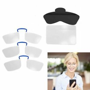 3PK Flexi Reader Compact Portable Pocket Reading Glasses Magnify Zoom Spectacles