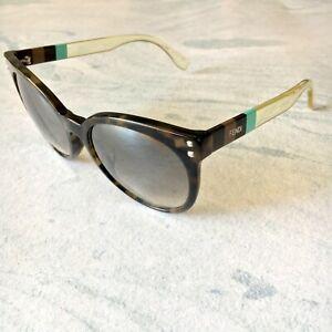 Fendi Authentic Brown Havana Oversized Cat Eye Sunglasses