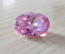 Pink Sapphire 8.23cts 10x12mm Oval Faceted Cut Shape AAAAA VVS Loose Gemstone