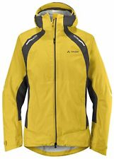 VAUDE Cassons Waterproof Outdoor Cycling Jacket RRP £190 BNWT Yellow