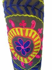 India Canvas Embroidered Yoga Mat Bag Indian Handmade Adjustable Strap US SELLER