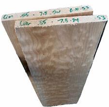 "Quilted Maple🍁 Billet 22x13x.875"" Big Leaf Carve Top Figured 2 piece 🎸Bass LP"