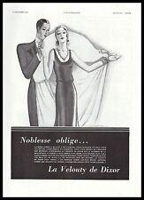 PUBLICITE  LA VELOUTY DE DIXOR COSMETIQUE COSMETIC  ART DECO  AD  1931