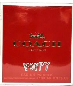 COACH POPPY Eau De Parfum Spray FOR WOMEN 3.3 Oz / 100 ml DISCONTINUED ITEM