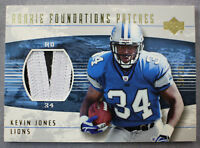 Kevin Jones Detroit Lions 2004 Upper Deck Foundations Rookie Patches Gold #20/25