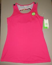 GAIAM~M 8 10~44-00004~Pink Floral Strength Keyhole Yoga Tank Shirt