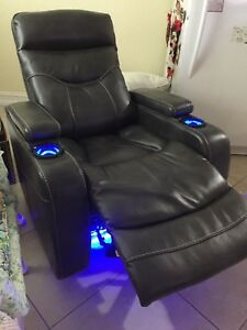 Clancy Leather Power Recliner with built in lights