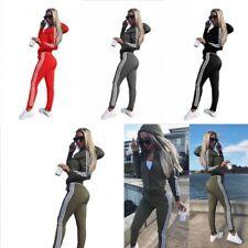 Damen Hoodie Sweatshirt Hose Trainingsanzug Hausanzug Sport Fitness Jogginganzug