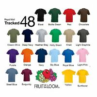 3 Pack Men's Fruit of the Loom Plain 100% Cotton Blank Tee Shirt Tshirt T-Shirt