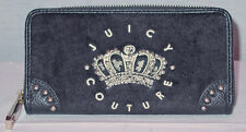JUICY COUTURE LADIES BLACK HANGING STONE VELO ZIP WALLET NEW WITH TAGS