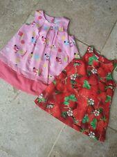 Vgc Next 2 Dress Set Strawberry & Dog Detail Size 3-6 Months