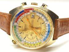 vintage wakmann regatta incabloc antimagnetic chronograph swiss made wristwatch