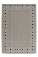 Low-pile Sisal Carpet Modern Woven Jute Back Anthracite/Silver 200X290