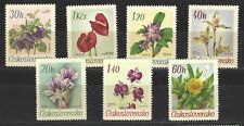 CZECHOSLOVAKIA,  # 1490-96,  MNH,  FLOWERS FROM BOTANICAL GARDENS
