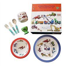 7 Piece Children's Melamine Gift Set - CONSTRUCTION
