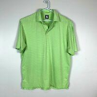 Footjoy Premium Green Golf Polo Shirt Size Men's Large