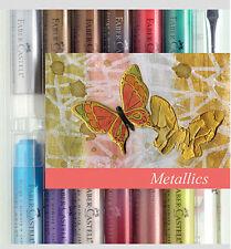 NEW ✿ Faber Castell Gelatos Metallics ✿ 12 Permanent Colours ✿