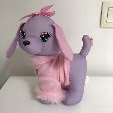 Peluche Doudou Chien Barbie Violet