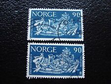 NORVEGE - timbre yvert et tellier n° 455 x2 obl (A30) stamp norway
