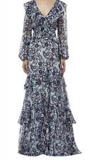 Amur Ruffle Silk Maxi Mint Dress Size 6 NWOT