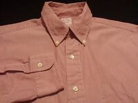 Brooks Brothers Mens sz 15.5 Long Sleeve Button-Down Cotton Red Striped Shirt