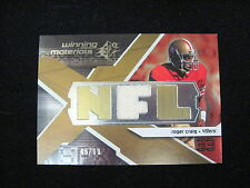 ROGER CRAIG GAME-WORN MATERIAL RELIC CARD--2008 SPX #'D TO 99