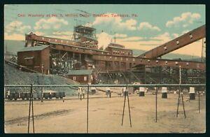 Tamaqua PA Coal Washery at Million Dollar Breaker 1912 Postcard