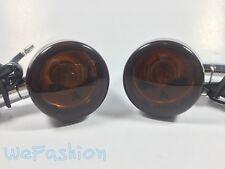 Skull Lens LED Turn Signals For Yamaha Vstar Classic Custom 400 650 1100 Models