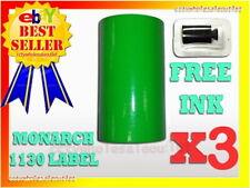 3 Fluorescent Green Label For Monarch 1130 Pricing Gun 3 Sleeve 30 Rolls