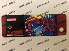 Super Metroid Snes Super Nintendo PAL Version Cartridge Replacement Label Precut