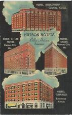 Hutson Hotels- 1943 Advertising postcard