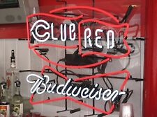 "New Budweiser Cincinnati Reds Club World Champions Neon Sign 24""x20"""