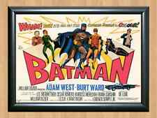 Vintage Batman Awesome 1966 Robin Adam West Movie Film A4 Print Poster Photo TV