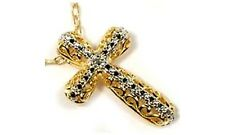 Handcut Russian Siberia Diamond 18kt Gold on Silver Ancient Greek Tears of Gods