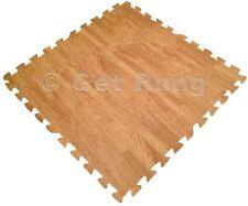 New 24Sq EVA Mat Interlocking Floor Garage Foam Soft Puzzle Tile Work Oak Wood