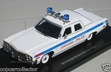 Auto World 1/43 Chicago IL Police 1974 Dodge Monaco - Highly Detailed Resin Car