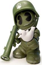 "Kidrobot 17 Sgt. Robot Army Green Edition 8"" Vinyl Figure  by DAVID WHITE new"