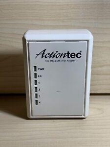 Actiontec 500 Mbps Powerline Ethernet Adapter Set 4 Port Port PWR504 White