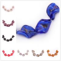 Handmade Craft Lampwork Glass Flower Leaf Spacer Beads Fashion Jewelry Bead 20mm