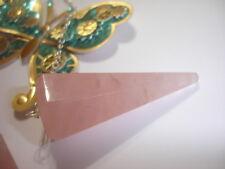 Rose Quartz 6 Faceted Pendulum Crystal Reiki Chakra Healing Love Friendship
