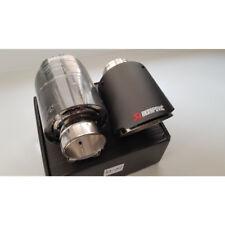 57mm ID/101mm OD Exhaust Tips Car Akrapovic Carbon Fiber Muffler Pipes 1pcs